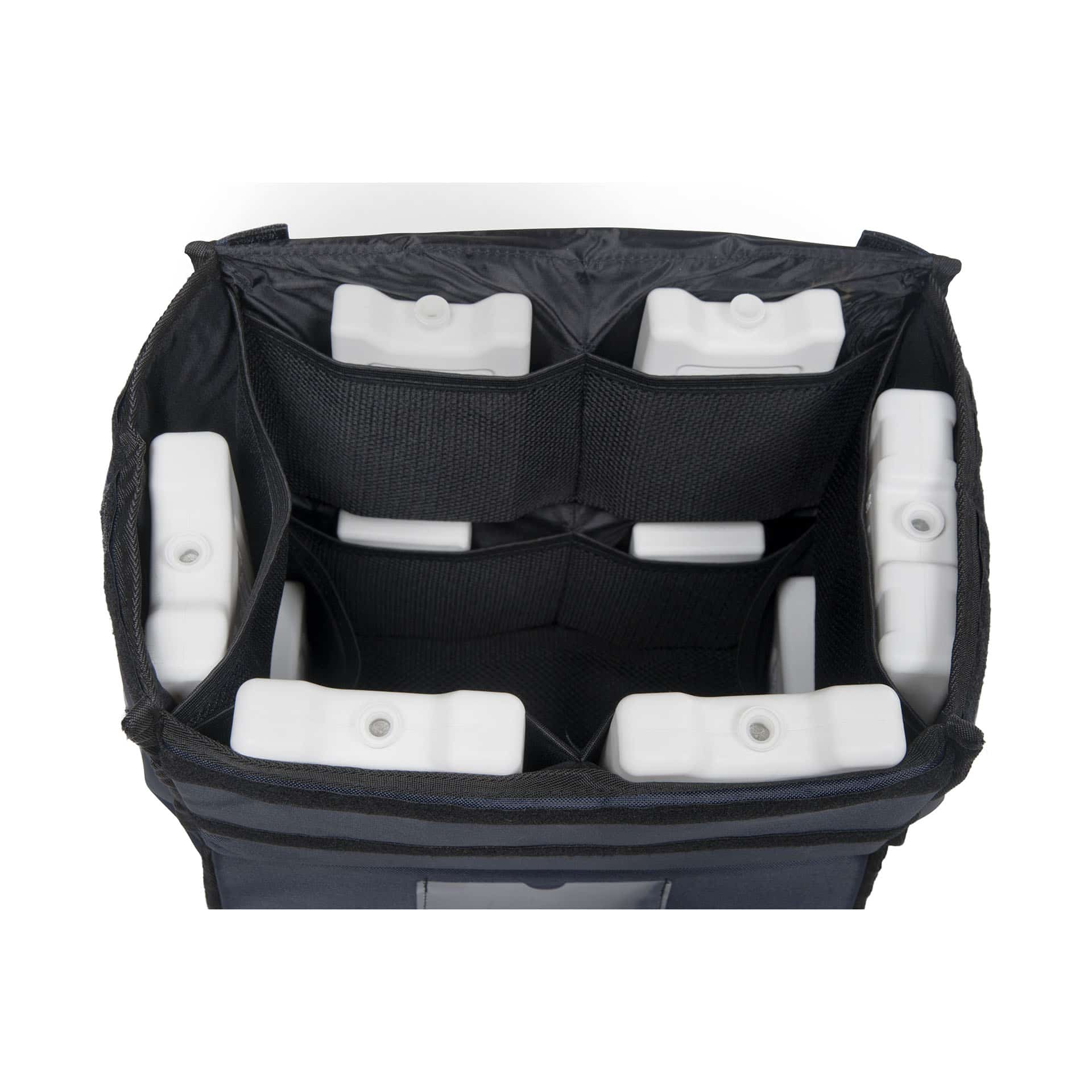 Professional insulated backpack for hot or cold meal, food delivery, at controlled temperature.