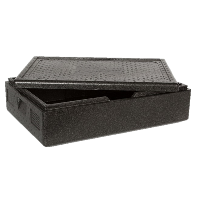 Reusable professional cool box ideal for the delivery of fresh food products, catering in hot or cold temperature. Internal format 600x400.