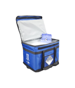 COLD & Co insulated container compatible with dry ice for transporting heat-sensitive medical products which must be stored at -80 ° C.