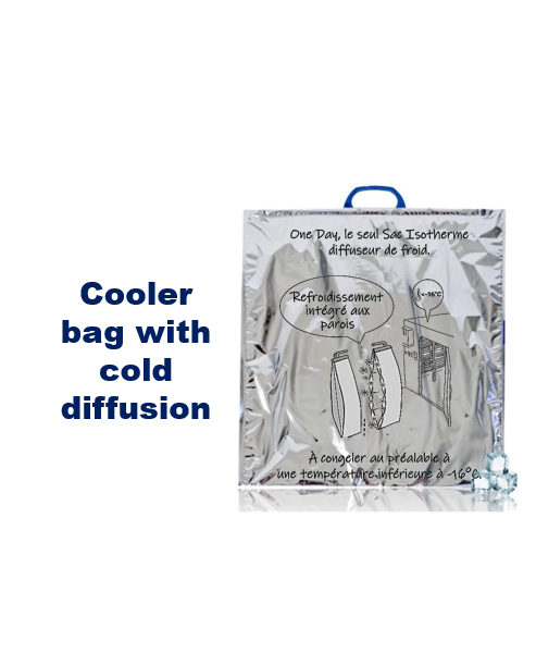 Intended for the delivery of fresh and frozen products, this isothermal bag diffuses the cold and guarantees a temperature maintenance of your fresh and frozen products.