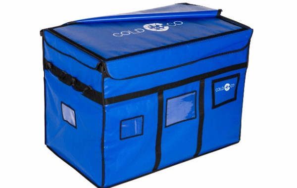 Professional refrigerated thermal container box, ideal for home delivery. Autonomous refrigeration by eutectic plate GN1/1. ATP certified.