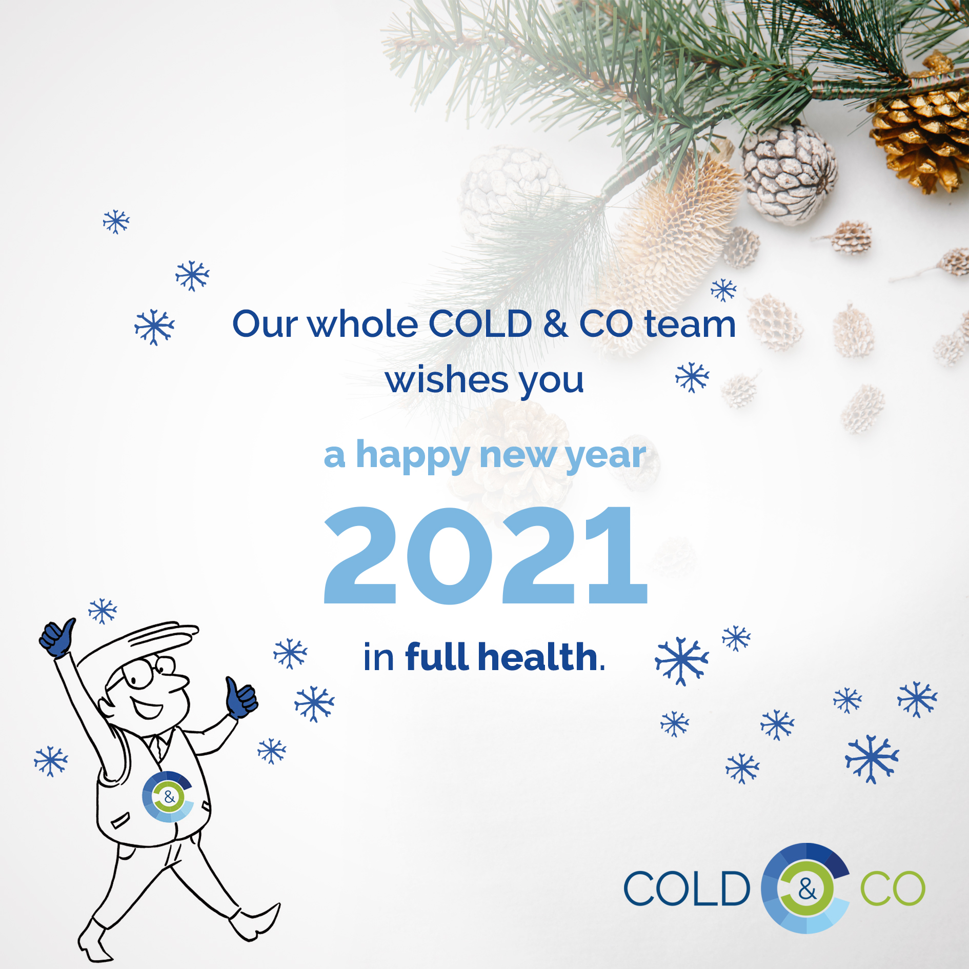 COLD & CO at the service of the cold chain for temperature-controlled products wishes you best wishes for 2021