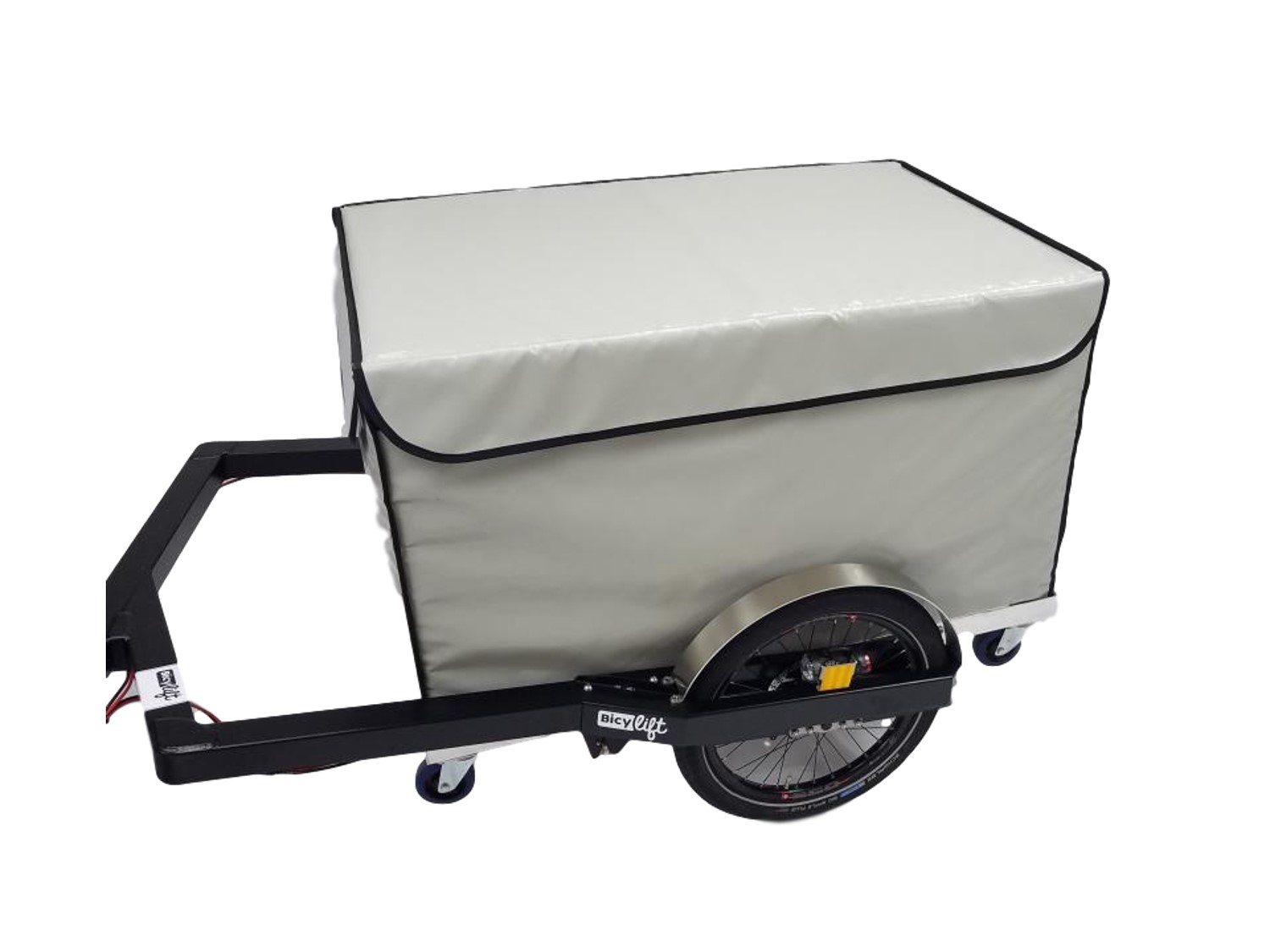 Refrigerated insulated pallet container for bicycle trailer Bicylift by Fleximodal