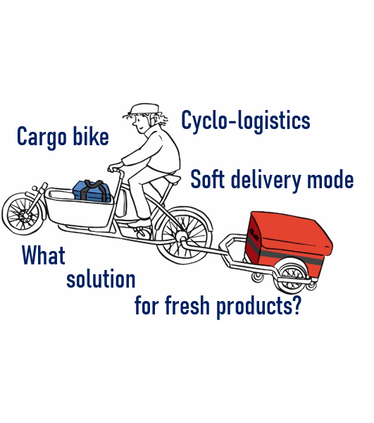 Cyclo-logistics, soft delivery, green transport, city center, bicycle cargo, two-wheeler pushcarts bike, cargobike truck, bicycle trailer, cargo trike, boxbike, what solution to deliver the fresh, frozen and cold products?