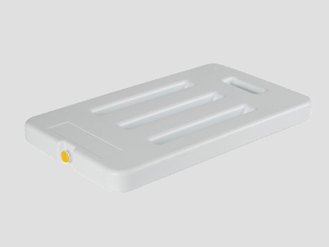 Eutectic plate, gel pack, cold pack or PCM to maintain cold or hot temperature inside cooler, insulated box, isothermal container