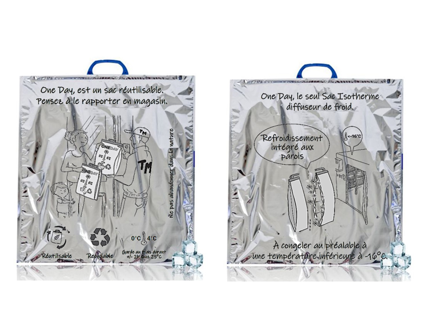 Isothermal bag for fresh and frozen products. OneDay fresh and OneDay freeze from COLD & CO.