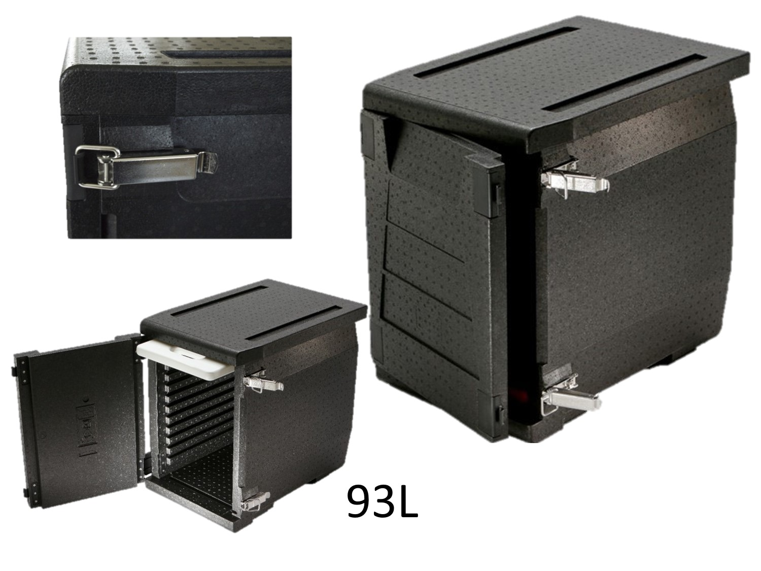 professional isothermal cooler, boxes with front opening format 600 x 400 93L DISTRIFRESH COLD & CO