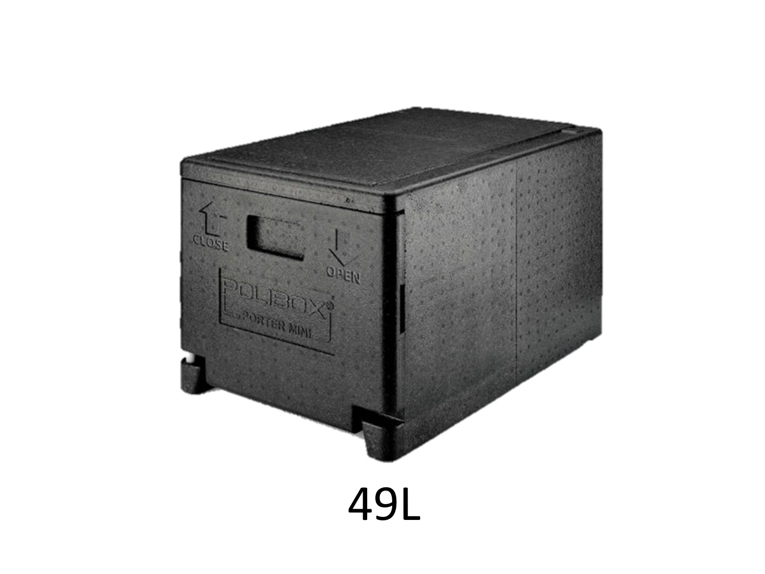 professional isothermal cooler, boxes with front opening GN 1/1 format 600 x 400 30L DISTRIFRESH COLD & CO