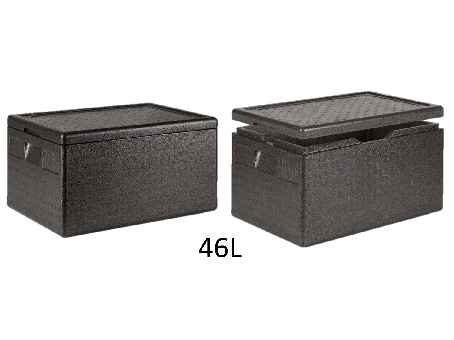 professional isothermal cooler, boxes with front opening GN 1/1 format 600 x 400 46L DISTRIFRESH COLD & CO