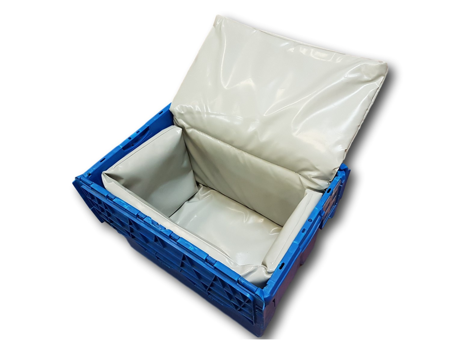 Box, pack, crate, insulated case: a crocodile case 600x400 mm with a cotton insulation insert from COLD & CO.