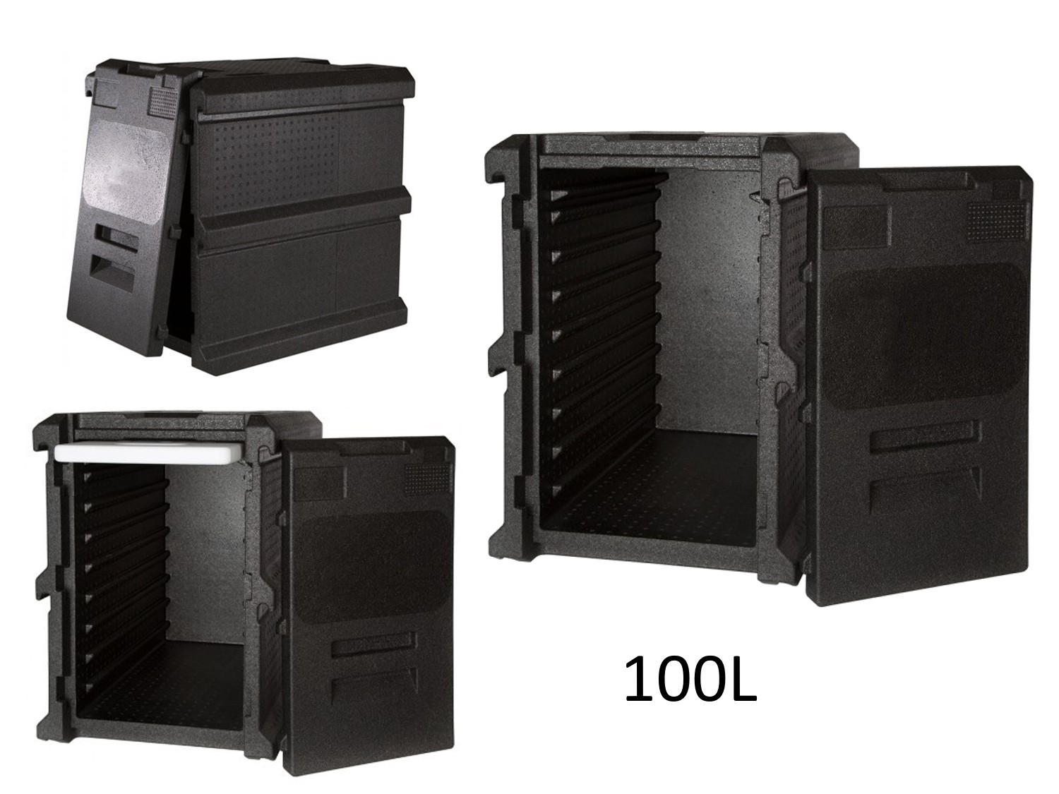 professional isothermal cooler, boxes with front opening GN 1/1 format 600 x 400 100L DISTRIFRESH COLD & CO