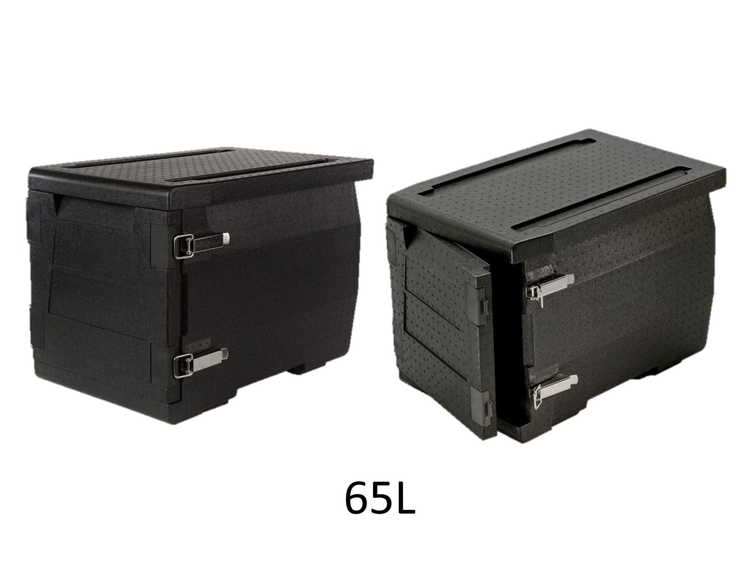 professional isothermal cooler, boxes with front opening GN 1/1 format 600 x 400 65L DISTRIFRESH COLD & CO