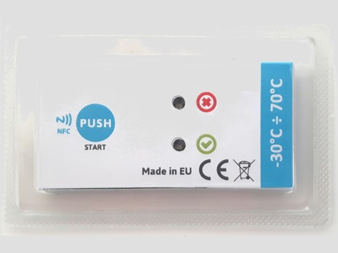 traceability temperature, record the temperature throughout a delivery thanks to an NFC recorder tracer, bluetooth