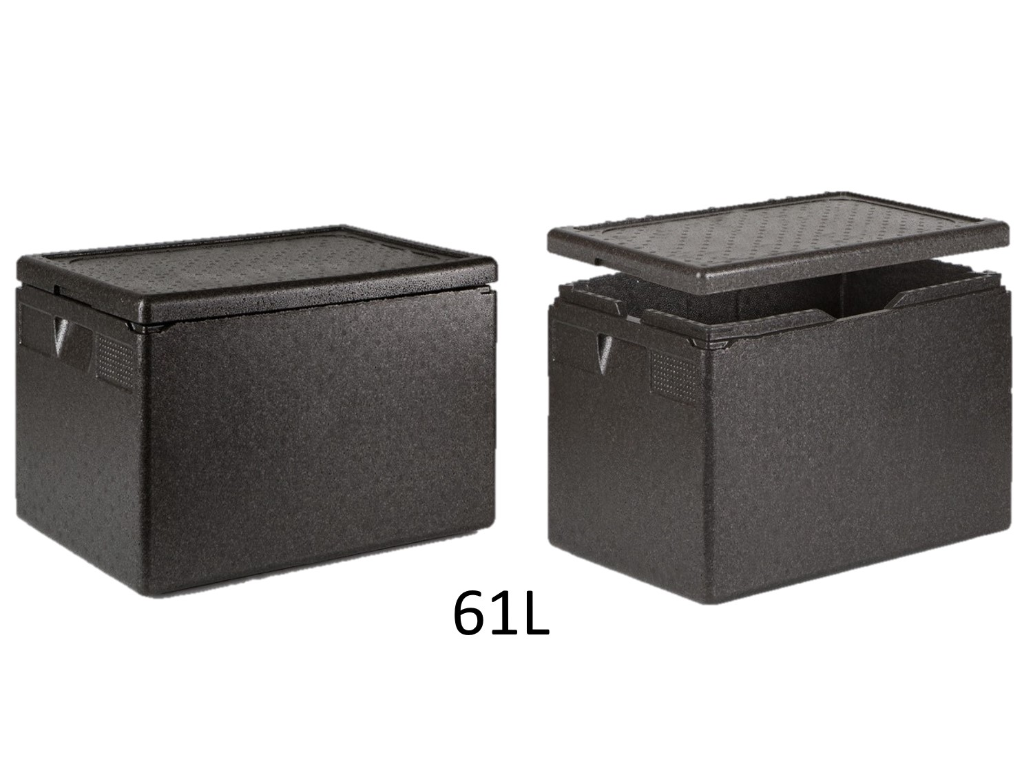 professional isothermal cooler, boxes with front opening GN 1/1 format 600 x 400 61L DISTRIFRESH COLD & CO