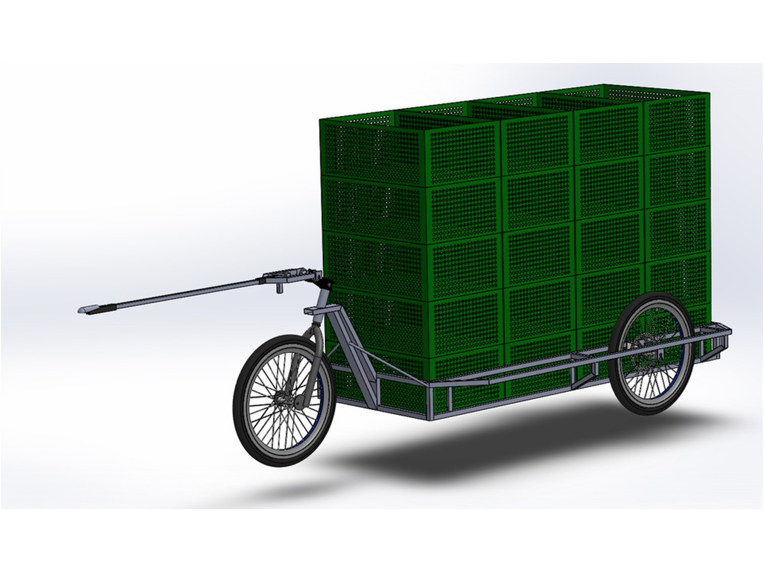 Carlacargo trailer bike can hold up to 24 standard cases. Insulate your crocodile crates with the cotton insert of COLD & CO to make your deliveries of fresh products.